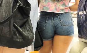 Street Voyeur Follows A Sexy Slender Teen With A Perfect Ass