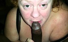 Chubby Blonde Granny Worships A Big Black Cock Pov Style