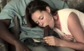 Lustful Brunette Wife Stuffs Her Hungry Pussy With Dark Meat