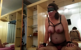 masked-brunette-wife-with-big-hooters-bounces-on-a-meat-pole