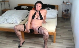 slutty-brunette-wife-in-lingerie-gets-her-ass-pounded-hard