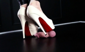 Dominant Lady In High Heels Makes A Dick Burst With Pleasure