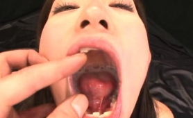 Nasty Asian Chick Has A Huge Cumload Flowing Down Her Throat