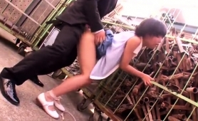 Busty Oriental Teen With A Fabulous Ass Gets Drilled Outside