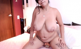 Voluptuous Brunette Shows Off Her Curves And Fucks Herself