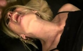 Nasty Mature Blonde Welcomes A Hot Load Of Cum On Her Face