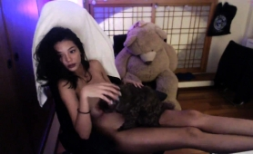 Busty Asian Babe Sensually Touches Herself For The Camera