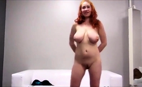 Big Breasted Redhead Milf Enjoys A Hard Fucking In Casting