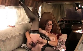 Voluptuous Mature Wife In Lingerie Pleases Her Fiery Holes